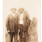 Antique African American Sharp Dressed Men Photo Old Black Americana V075