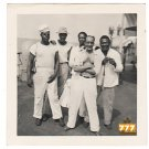 Vintage African American Military Men Group Old Photo Black Americana SQ41