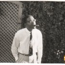 Vintage African American Charismatic Man w/ Cigar Old Photo Black Americana HS73