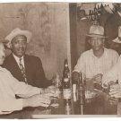Vintage African Men Group Old Photo Bar Club Drinking Man Black Americana HS71