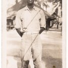 Vintage African American Soldier Old Photo Military Man Black Americana V060