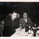 Vintage African American Soldier Man with Friend Old Photo Black Americana HS66