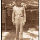 Vintage African American Soldier Old Photo Military Man Black Americana V059