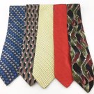Men's New LOT OF 10 Designer Silk Ties Neckties Various Colors Patterns TL10-2