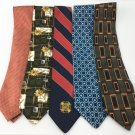 Men's New LOT OF 10 Designer Silk Ties Neckties Various Colors Patterns TL10-1