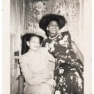 Vintage Pretty African American Stylish Women Old Photo Black Americana V085