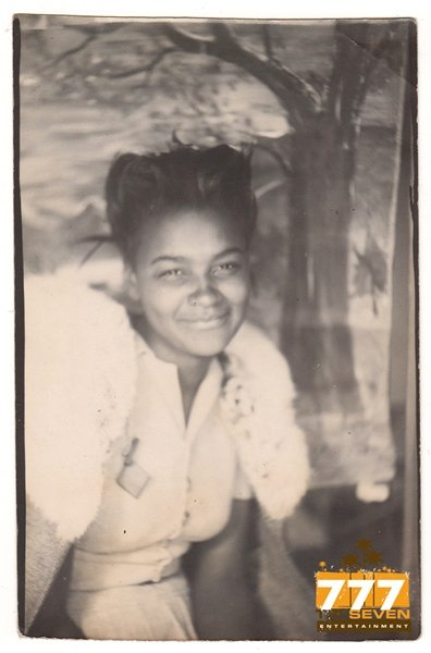 Vintage African American Pretty Young Girl Photo Booth Old Black Americana TPB40