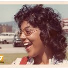 Vintage 1970s Pretty African American Hispanic Woman Smile Old Color Photo CO04