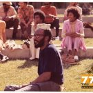 Vintage 1970s African American College Students On Campus Old Color Photo CO13