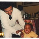 Vintage 1970s African American Happy Baby Handsome Man Old Color Photo CO14