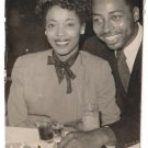 Vintage Cute African American Couple On Date Old Photo Black Americana V087