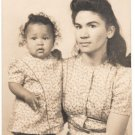 Vintage African American Biracial Mother w/ Child Old Photo Black Americana V080