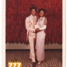 Vintage 1970s African American Cute Young Prom Couple Old Color Photo CO17