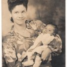Vintage African American Biracial Mother w/ Child Old Photo Black Americana V081