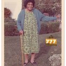 Vintage 1970s Older African American Woman Old Color Photo Black Americana CO15