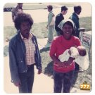 Vintage 1970s Cute Young African American Couple with Baby Old Color Photo CO12