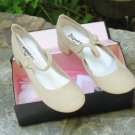 REPETTO Bellinda Beige Canvas Mary Jane chaussures danse NEW IN BOX