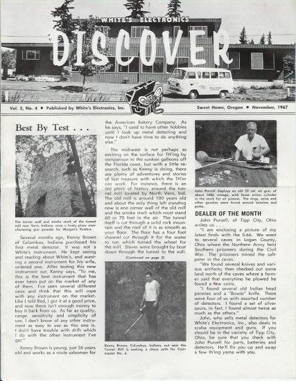 Discover Newsletter November 1967 White's Electronics