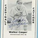 Walker Cooper TCMA Card autographed  #168 Cardinals