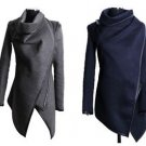 NEW Women's Wool Wrap Coat Jacket, Gray, Navy Blue or Black - Small Medium Large