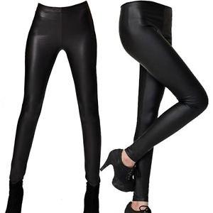 NEW Leather Stretch Pants Leggings, Black, Small or Medium, i.e H&M Zara Express