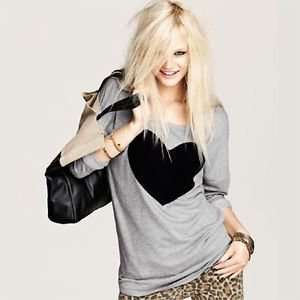 NEW Big Heart Oversized Icon Tunic Hip Hop Shirt, S M L, ie H&M Forever 21 Zara