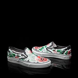 BRAND NEW Limited Edition Tattoo Rose Vans Shoes - Oliver Peck, Rockabilly, Punk
