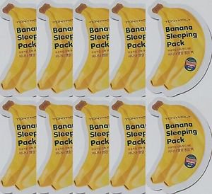 TONYMOLY Tony Moly Banana Sleeping Pack Creme Mask 10 Pcs Sample, Ships from USA