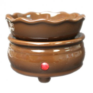 Chocolate 2-n-1 Candle Tart Electric Ceramic Warmer
