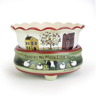 Farm Art 2-n-1 Candle Tart Electric Ceramic Warmer