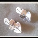 Gold Plated Silver Leaves Earrings - Hope Earrings - Handmade - 925 Sterling silver