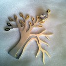 Half Healthy Half weak Tree - Silver Pendent - Hand Made