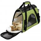 Pet Carrier Sided Cat / Dog Travel Tote Bag Airline Approved Spanish Green