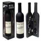 OxGord Wine Accessory Tool Gift Set with Pourer Collar Cork-Screw Stopper Cutter
