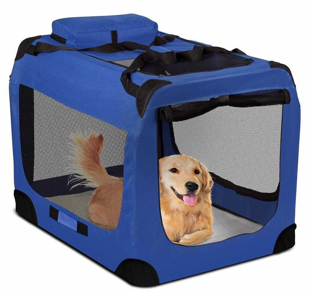 Dog Crate Soft Sided Pet Carrier Foldable Training Kennel