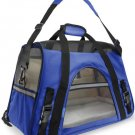 Pet Carrier Soft Sided Small Cat / Dog Comfort Sapphire Blue Bag Travel Approved