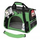 Pet Carrier Soft Sided Small Cat Dog Comfort Shamrock Green Bag Travel Approved