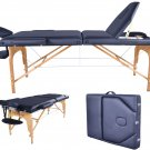 New BestMassage Black PU Reiki Portable Massage Table w/Carry Case U9