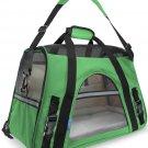 Pet Carrier Soft Sided Large Cat Dog Comfort Shamrock Green Bag Travel Approved