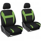 Car Seat Covers for Dodge Charger Green Black Steering Wheel/Belt Pad/Head Rests