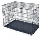 """New Black 36"""" Pet Folding Suitcase Dog Cat Crate Cage Kennel Pen with ABS Tray"""