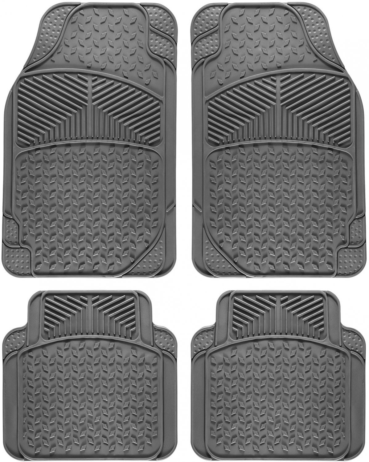 Car Floor Mats For Toyota Camry 4pc Set All Weather Rubber