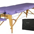 New Purple PU Portable Massage Table with Free Carry Case