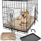 New Pet Crate Kennel Cage & Bed Pad Cushion Warm Soft Cozy House Kit Playpen