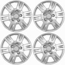 "4 Piece Hub Caps Wheel Cover Set SILVER /LACQUER FITS 16"" Inch Skin Covers Cap"