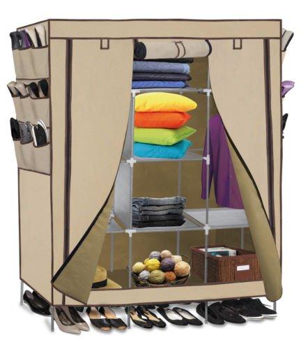 Portable Closet Storage Organizer Clothes Wardrobe Shoe