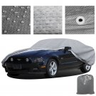 3 Layer Car Cover Indoor Outdoor Water Resistant Weater Shield Fleece Lining