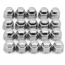 17mm Chrome Lug Nut Covers 20pc Set for Truck SUV Van Wheel Rim Bolt Center Caps