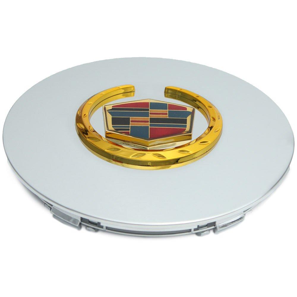 1pc Cadillac CHROME Gold Rim Lug Nut Steel & Alloy Wheel Skin Center Hub Cap
