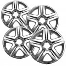 "4 Pc Chevy Impala Steel Wheel Snap On CHROME 17"" Hub Caps 5 Spoke Fit Skin Cover"